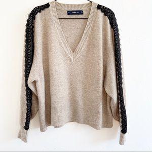 Cozy Zara Knit Lace Sweater